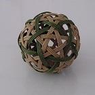 六角籠目と鉄線編み 球