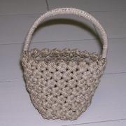 花結び編みかご