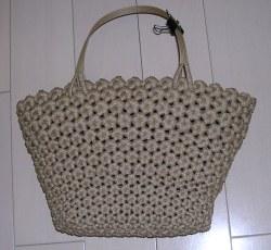 花結び編みバッグ