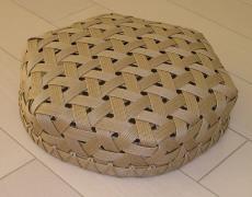 鉄線編みの平かご